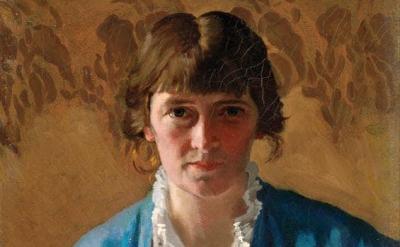 (detail) Margaret Clarke, Self-portrait, 1914 (© Artist's Estate photo © National Gallery of Ireland, photo by Roy Hewson)