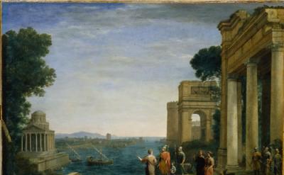 Claude Lorrain, Dido and Aeneas at Carthage, 1676, Oil on canvas, 120 x 149.2 cm