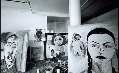 (detail) Gianfranco Gorgoni, Broadway Studio (1980s), (courtesy Thomas Ammann Fi