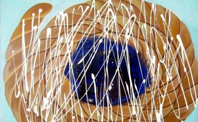 Jennifer Coates, Blueberry Danish, 30 x 40 inches (courtesy of the artist)