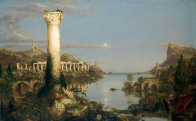 Thomas Cole, The Course of Empire: Desolation, 1836, oil on canvas, 99.7 × 160.7 cm (courtesy of the New-York Historical Society. © Collection of The New-York Historical Society, New York / Digital image created by Oppenheimer Editions)
