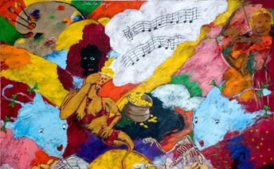 Robert Colescott, Ode to Joy (European Anthem), 1997 (courtesy of Kravets|Wehby