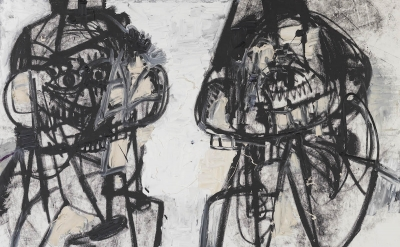 (detail) George Condo, Self Portraits Facing Cancer 1, 2015 (courtesy of Spruth
