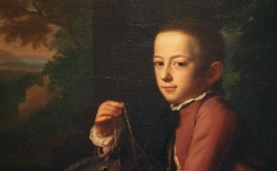 (detail) J. S. Copley, Daniel Crommelin Verplanck, 1771, oil on canvas, 49 1/1 x