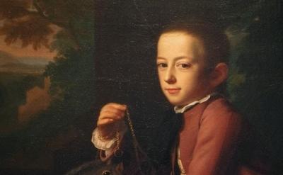 (detail) J. S. Copley, Daniel Crommelin Verplanck, 1771, oil on canvas, 49 1/1 x