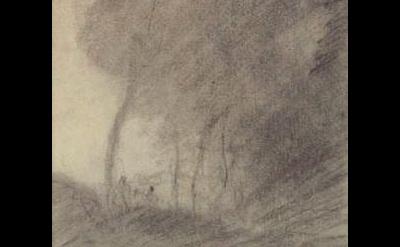 (detail) Jean-Baptiste Camille Corot, Paysage boise au bord du lac, 1852 (courte