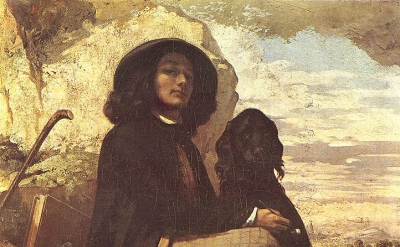 Gustave Courbet, Self Portrait with Black Dog, 1841, Oil on canvas, Petit Palais