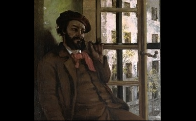 (detail) Gustave Courbet, Self-Portrait at Sainte-Pelagie, 1871, Musee-Maison Na