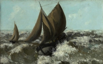(detail) Gustave Courbet, The Sailboat (Seascape) (Sterling and Francine Clark A