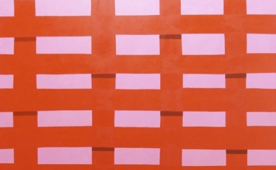 (detail) Corydon Cowansage, Fence #30, 2013, oil on canvas, 72 x 50 inches (cour