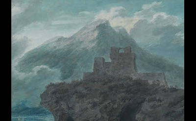 (detail) John Robert Cozens, A Ruined Fort Near Salerno, c. 1782 (The Courtauld