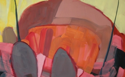 (detail) Megan Craig, Wheee! (How to Swing), oil on panel, 56 x 58 inches, 2012