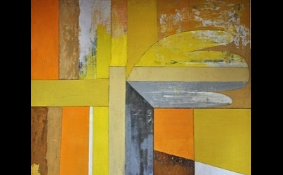 (detail) Tom Cross, Interior of a Room, 1964, oil on canvas, 183 x 133cm (photog