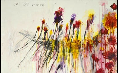 Cy Twombly, painting, detail