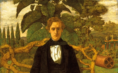 (detail) Richard Dadd, Portrait of a Young Man, 1853 (Tate Collection)
