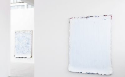 Installation view: Andrew Dadson: Suburban Suprematism at Galleria Franco Noero,