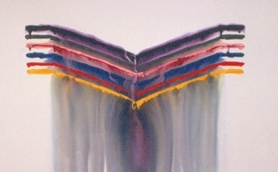 (detail) Dan Yellow Kuhne, Untitled, 5' x 7', 1972, acrylic on canvas, collectio