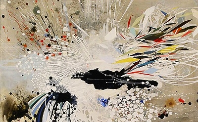 (detail) Reed Danziger, Angles of a Particle, Phase E, 2012, 20 x 20 inches, mix
