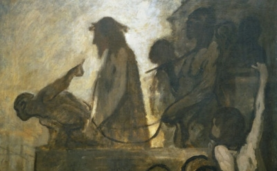 (detail) Honoré Daumier, Ecce Homo, c.1849-52 (Museum Folkwang, Essen/Photo © Mu