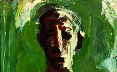 (detail) David Park, Bather with Green Sea, oil on canvas, 1958, 27 3/4 x 13 3/4