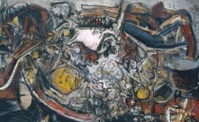 (detail) Alan Davie, Birth of Venus, 1955 (Tate Gallery)