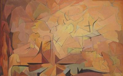 Manierre Dawson, Afternoon II, 1913, oil on canvas, 17.5 x 24.25 inches (courtes