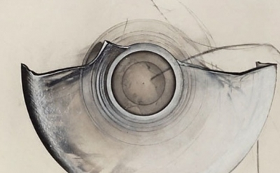 (detail) Jay DeFeo, Oracle (One O'clock Jump series), 1979, acrylic, graphite an
