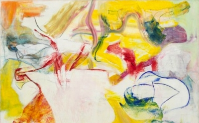 (detail) Willem de Kooning, Pirate (Untitled II), 1981, Oil on canvas 7 feet 4 i
