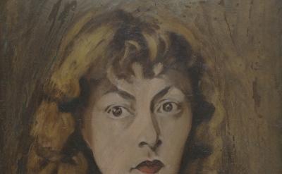 (detail) Elaine de Kooning, Self-Portrait #1, c. 1942 (Michael and Susan Luyckx