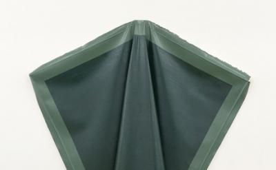 (detail) Angela de la Cruz, Deflated Green, oil on canvas, 153 x 180 cm (courtes