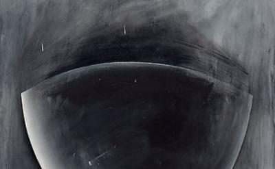 (detail) Jay DeFeo, White Shadow, 1972, acrylic on masonite, 48 x 37 1/8 inches