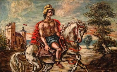 Giorgio de Chirico, Knight with Red Cape, c. 1960 (Los Angeles County Museum of