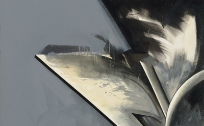 (detail) Jay DeFeo, Hawk Moon No. 1, 1983-85, oil on canvas, 84 x 60 inches (© 2