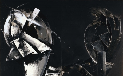(detail) Jay DeFeo, Masquerade in Black (Loop System No. 4), 1975 © 2012 The Jay