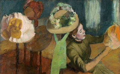 Edgar Degas, The Millinery Shop, ca. 1882–86 (The Art Institute of Chicago)