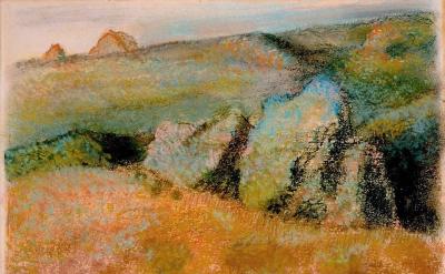 Edgar Degas, Landscape With Rocks, 1892 (High Museum of Art)