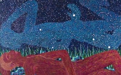 (detail) Benjamin Degen, Night Wave, 2013, oil on linen over panel, 72 x 108 inc