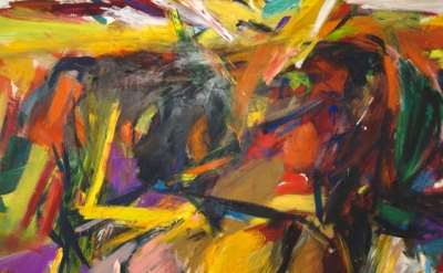 Elaine de Kooning, Bullfight, 1959, oil on canvas, 77-5/8 x 131-1/4 x 1-1/8 inches (Denver Art Museum: Vance H. Kirkland Acquisition Fund. © Elaine de Kooning Trust)