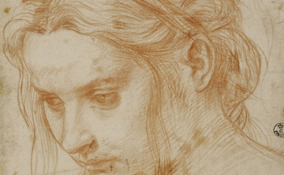 (detail) Andrea del Sarto, Study of the Head of a Young Woman, about 1523 (Galle