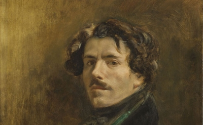 (detail) Eugène Delacroix, Self-Portrait with Green Vest, c. 1837, oil on canvas, 65 x 54 cm (Musée du Louvre, Paris © RMN-Grand Palais (musée du Louvre), Michel Urtado)