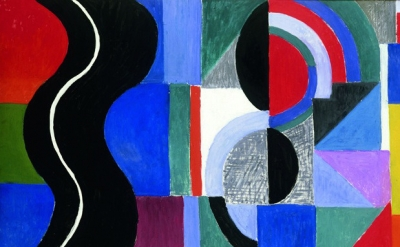 (detail) Sonia Delaunay, Syncopated Rhythm, also-called The Black Snake, 1967 (M