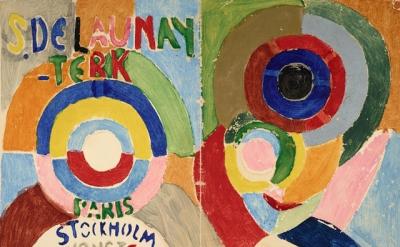Sonia Delaunay, Couverture du catalogue de l'exposition de Stockholm, Autoportra