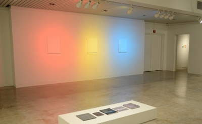 Installation view of Matthew Deleget: Pictures at an Exhibition, The Cress Galle
