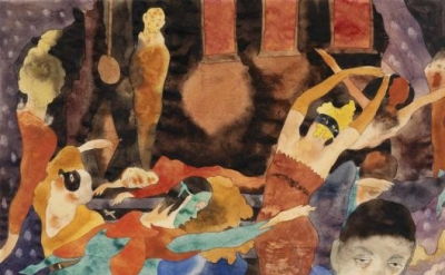 Charles Demuth, The Masque of the Red Death, c. 1918, watercolor and graphite on
