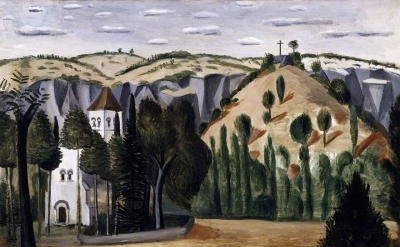 Andre Derain, The Church at Vers, 1912 (© ADAGP, Paris and DACS, London 2017, photo: Amgueddfa Cymru – National Museum Wales)