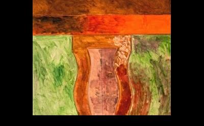 (detail) painting by Porfirio DiDonna, 1985