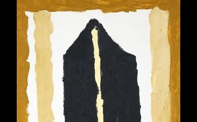 (detail) Martha Diamond, Church IV, 2010, oil on board, 15 x 10 inches (courtesy