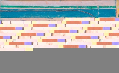 (detail) Richard Diebenkorn, Cigar Box Lid #4, 1976, oil on wood, 8 3/8 x 7 1/8