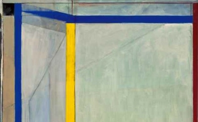 (detail) Richard Diebenkorn, Ocean Park #36, 1970, Oil on canvas, Orange County