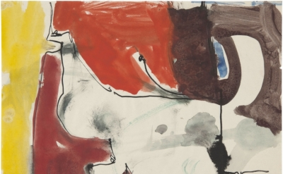 Richard Diebenkorn, Untitled c. 1949-55 Gouache and ink on paper 8 1/2 x 11 inch